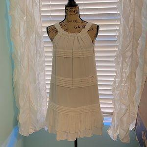 White fully lined summer dress.